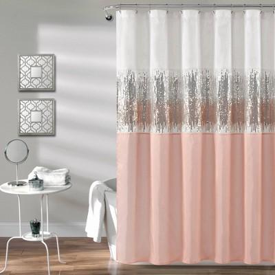 Night Sky Shower Curtain Blush Pink/White - Lush Décor