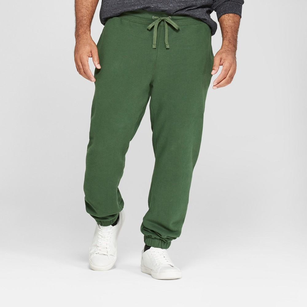 Men's Big & Tall Fleece Cinched Jogger Pants - Goodfellow & Co Banyan Tree Green 2XB