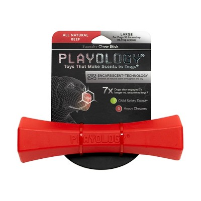 Playology Beef Scent Chew Stick Dog Toy - Red - L
