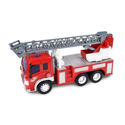 Maxx Action Lights & Sounds Firetruck Vehicle with Extendable Ladder and Friction Motor