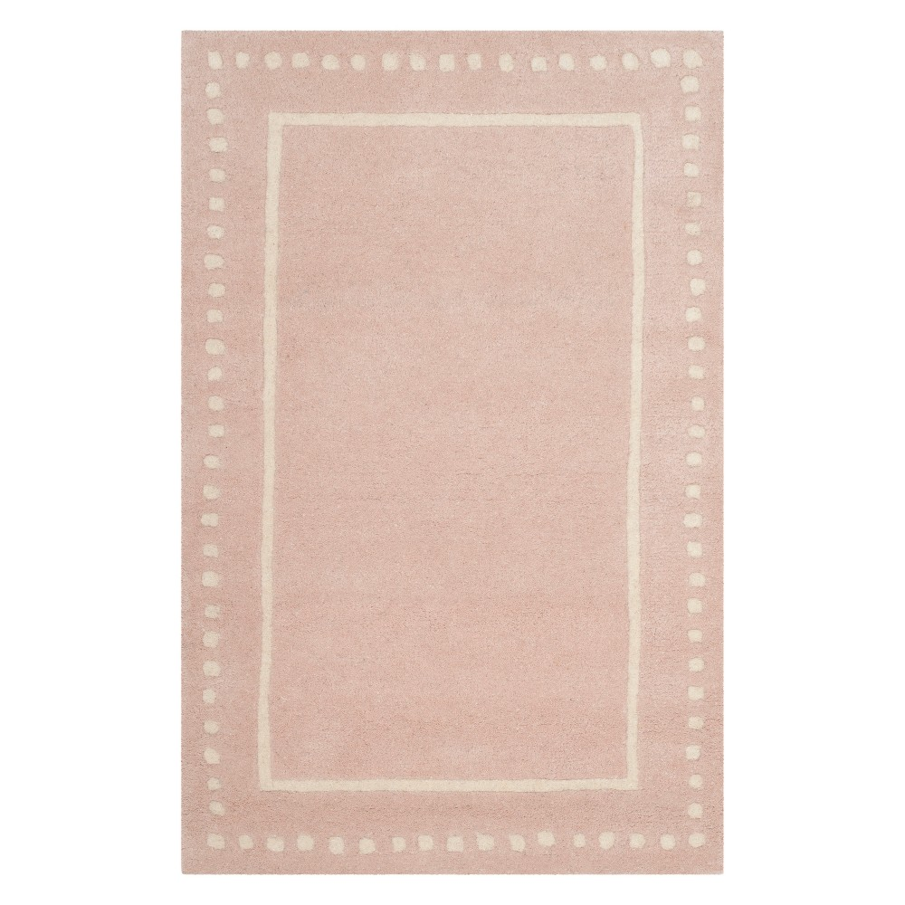 Best 26X4 Solid Accent Rug Light PinkIvory Safavieh