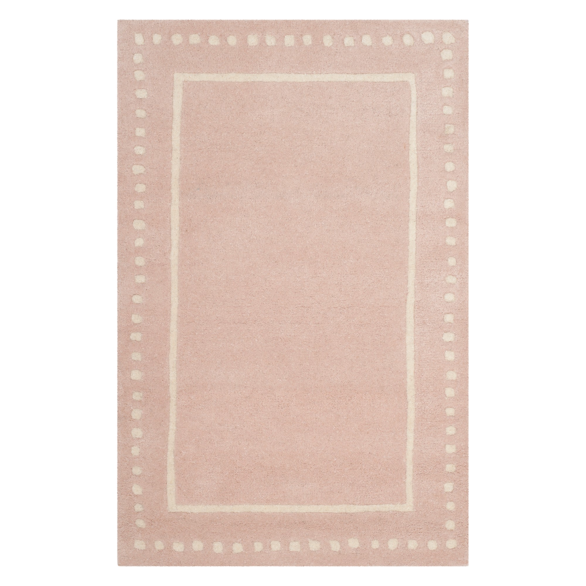 2'6X4' Solid Accent Rug Light Pink/Ivory - Safavieh