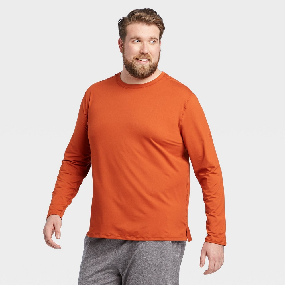 Men's Long Sleeve Performance T-Shirt - All in Motion Orange M, Men's, Size: Medium was $16.0 now $11.2 (30.0% off)