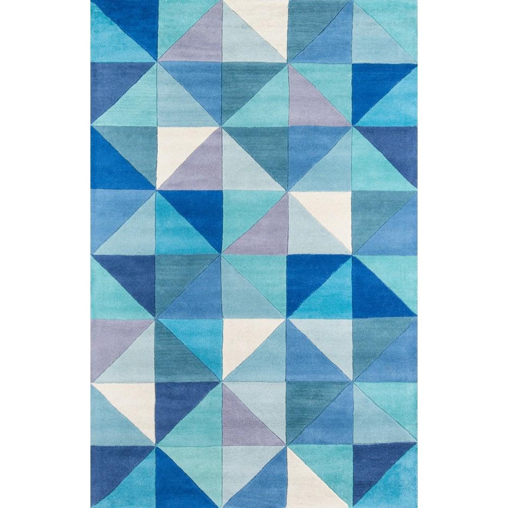 Ashton 100% Wool Area Rug - Blue (8'x10')