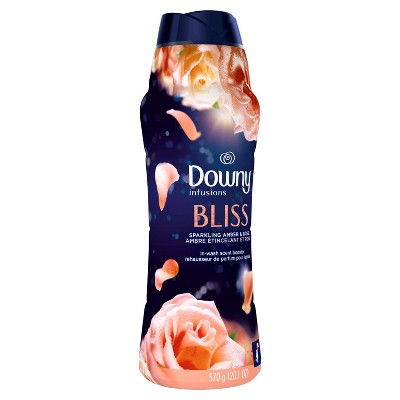 Downy Infusions Bliss Sparkling Amber & Rose In-Wash Scent Booster Beads - 20.1oz