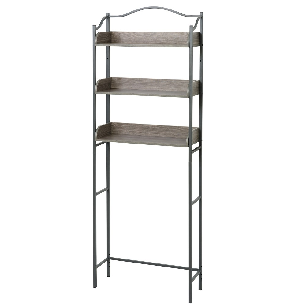 Spacesaver Over the Toilet Etagere Gray - Zenna Home