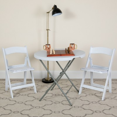 Flash Furniture 4 Pack HERCULES Series 1000 lb. Capacity Resin Folding Chair with Vinyl Padded Seat
