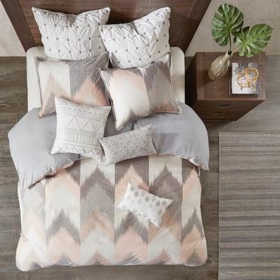 3pc King/California King Alpine Cotton Duvet Cover Mini Set Blush