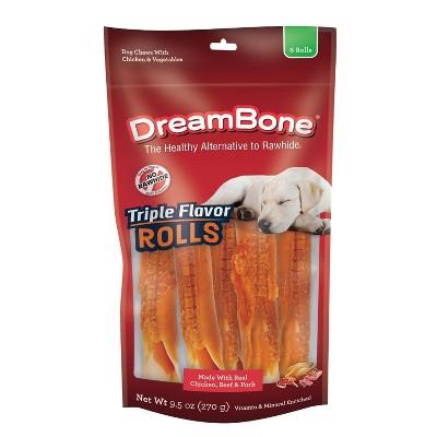 Dreambone Triple Flavor Rolls - 6ct