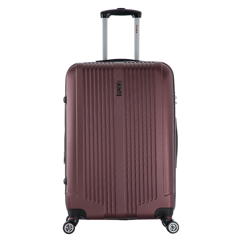 InUSA San Francisco 26 Hardside Spinner Suitcase - Wine, Raspberry Wine
