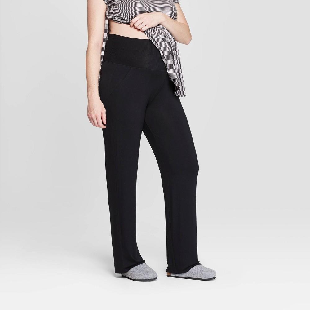 d0aa9253cdfbf Womens Beautifully Soft Postpartum Pajama Pants Stars Above Black S
