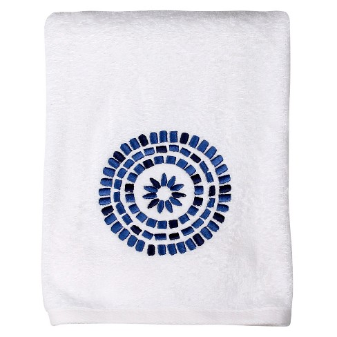 Waterfall Bath Towel Bluewhite 24x48 Saturday Knight Ltd
