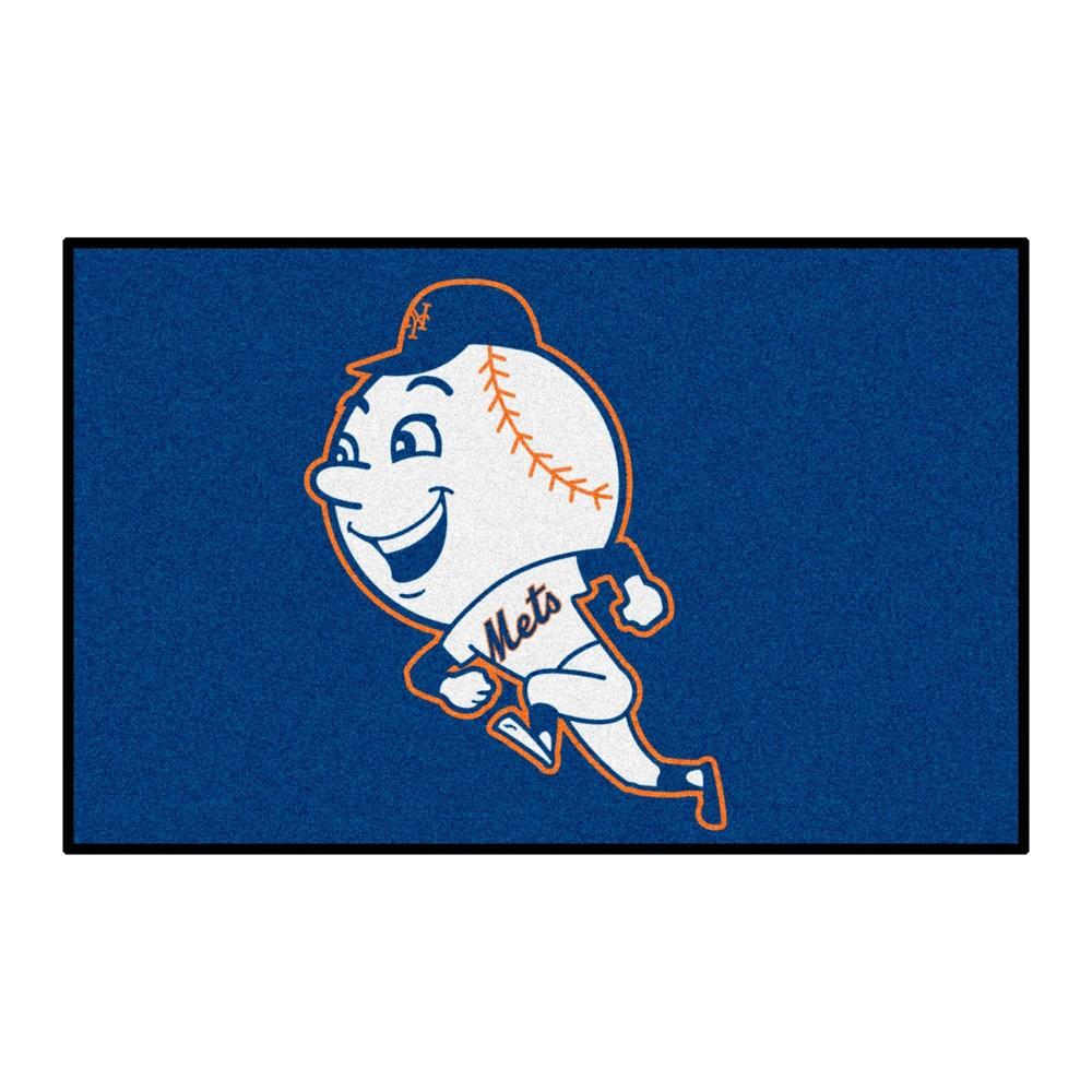 Mlb New York Mets 19 34 X30 34 Retro Accent Rug