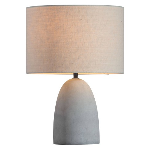"""Contemporary Faux Concrete Gray and Beige 17"""" Table Lamp  - ZM Home - image 1 of 4"""