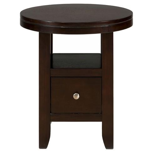 e58b8c73212b4 Marlon Round Chairside Table Brown - Jofran Inc.   Target