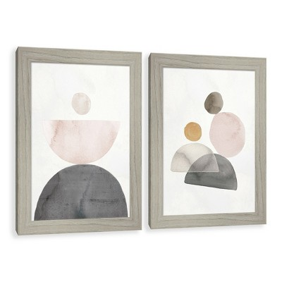 Crescent Moon Watercolor Paper Screened Glass Poster Frame - Project 62™