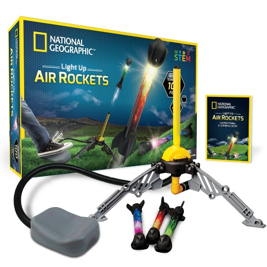 National Geographic Light Up Air Rockets Activity Set image number null