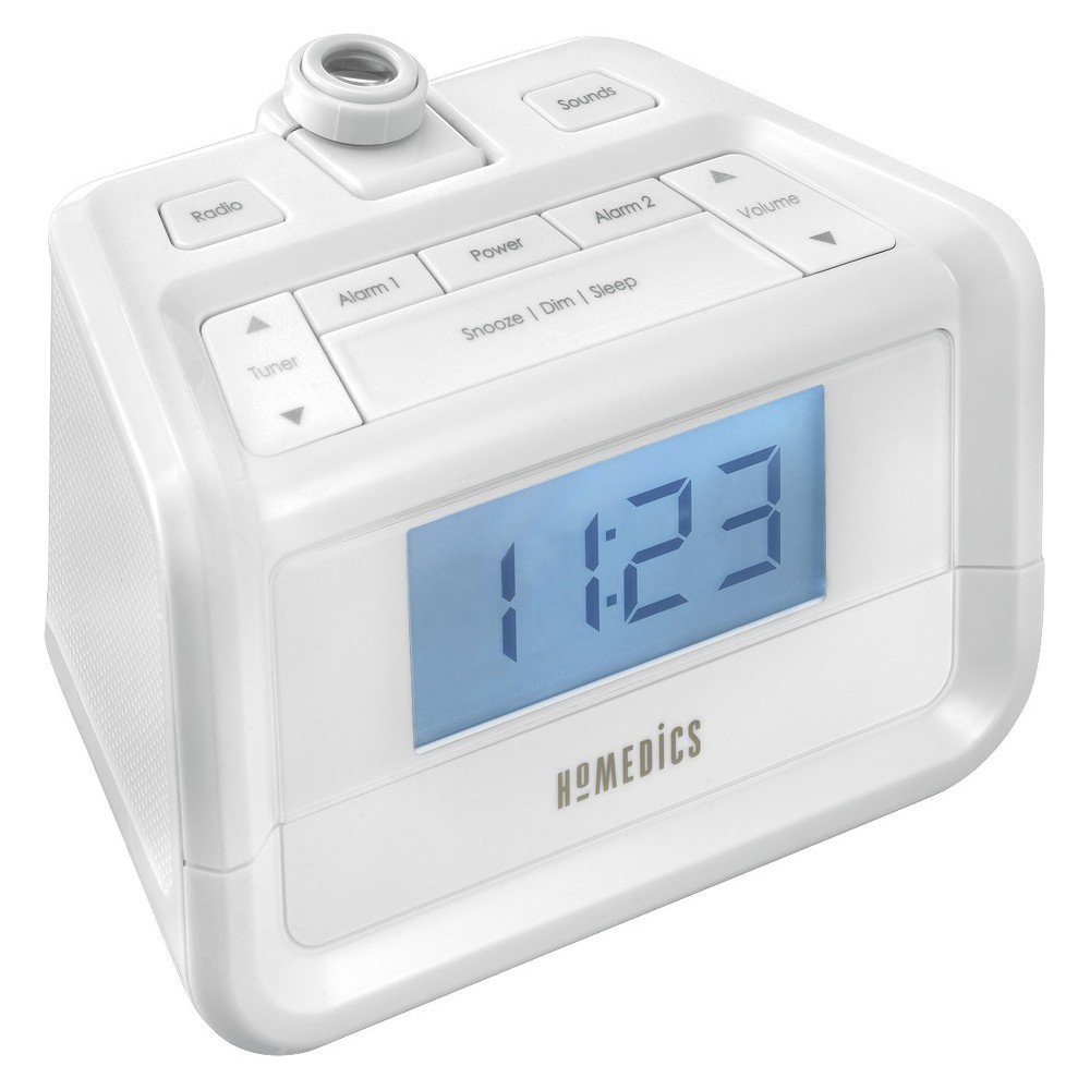 HoMedics SoundSpa Digital FM Clock Radio with Time Projection
