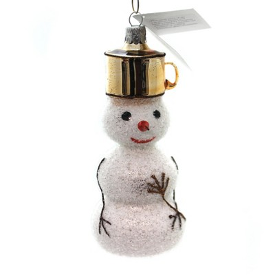 """Golden Bell Collection 5.5"""" Snowman With Pot Hat Ornament Carrot Nose  -  Tree Ornaments"""