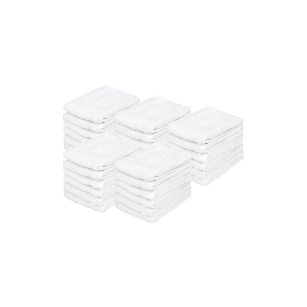 30pc Washcloth Set White Bokser Home