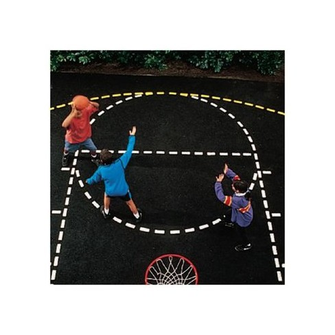 Basketball Court Stencil - image 1 of 1