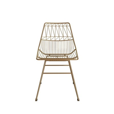 Astrid Wire Metal Dining Chair - CosmoLiving by Cosmopolitan