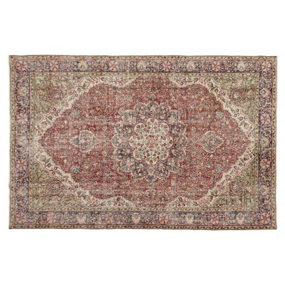 "6'9""x10'4"" Vintage One-of-a-Kind Undine Rug Red - Revival Rugs"