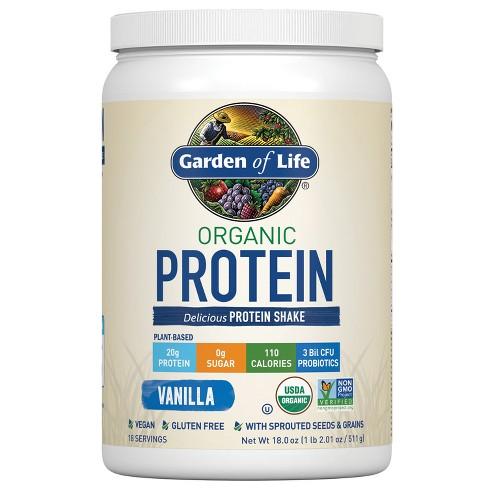 Garden of Life Organic Vegan Protein Powder - Vanilla - 18oz - image 1 of 4