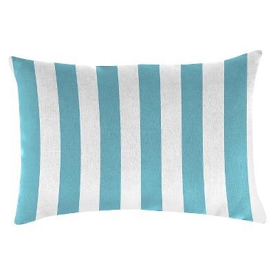 Outdoor Throw Pillow Set Jordan Manufacturing Washed Turquoise White