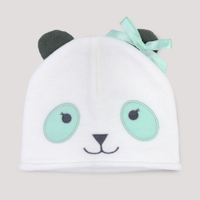 Baby Girls' Panda Hat - Cloud Island™ White Newborn