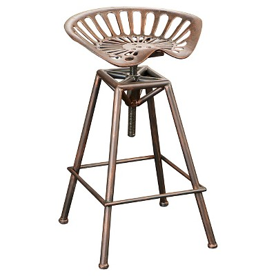 Chapman 27.5  Saddle Barstool - Copper Christopher Knight Home