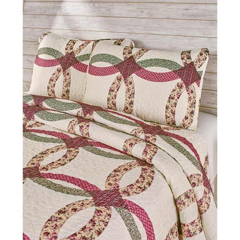 Lakeside Norfolk Wedding Ring Quilted Bedding Set with 2 Pillow Shams - King - image 1 of 1