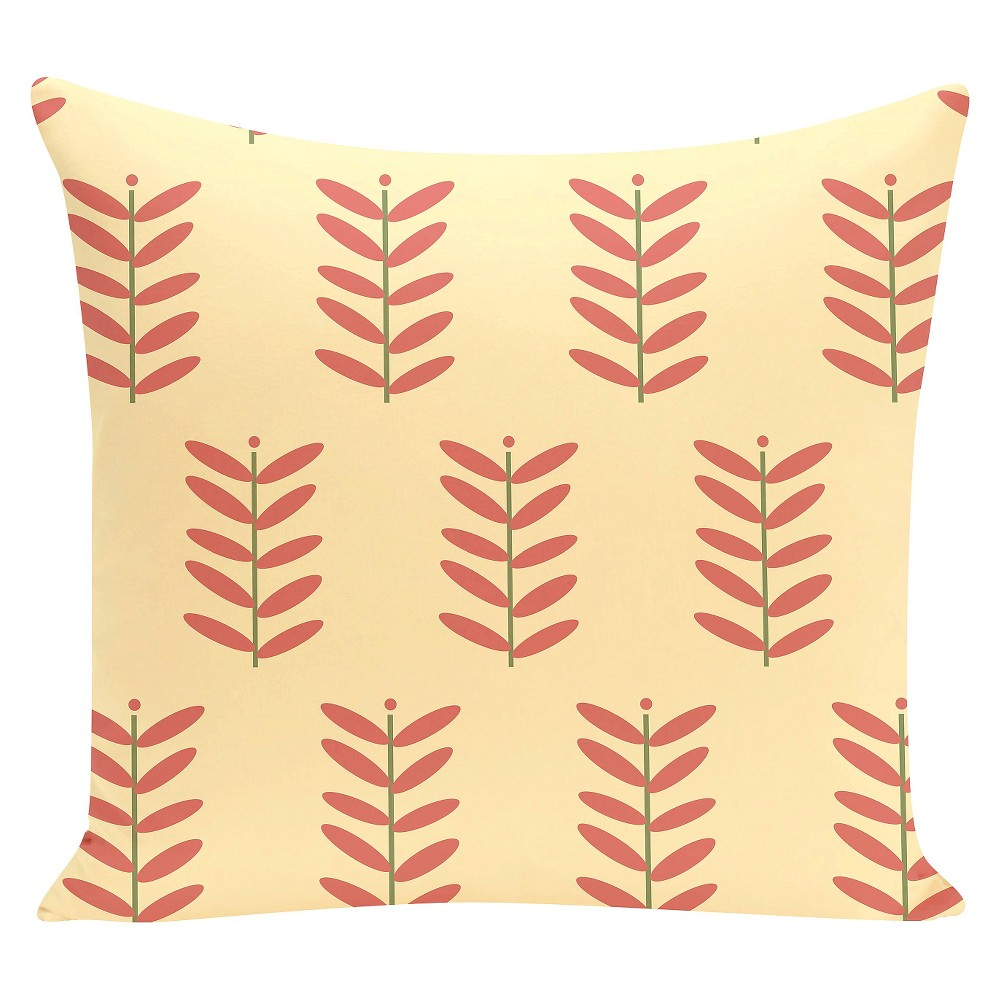 """Image of """"Yellow Petal Pusher Floral Print Throw Pillow Seed (16""""""""x16"""""""") - E By Design"""""""