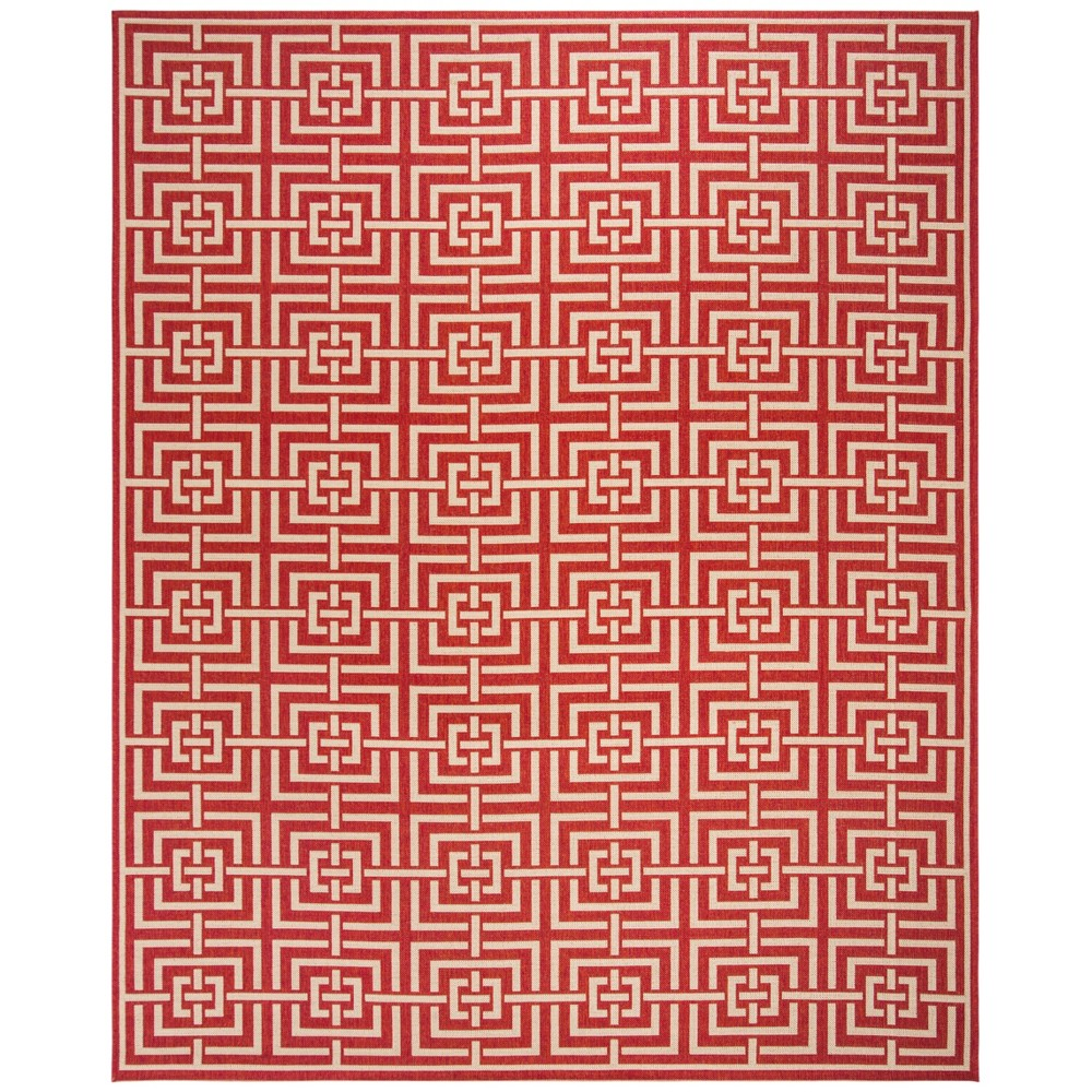 9X12 Geometric Loomed Area Rug Red/Cream - Safavieh Top