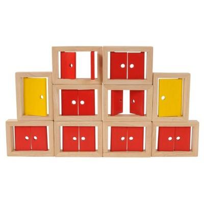 Marvel Education Company Wooden Doors and Windows - 10 Pcs