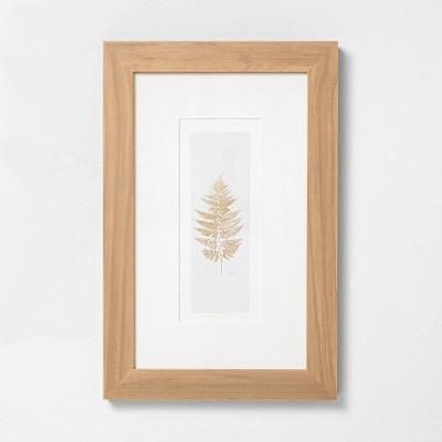 """12"""" x 18"""" Fern Stem Wood Framed Wall Art - Hearth & Hand™ with Magnolia"""