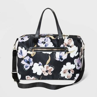 Floral Print Weekender Bag - A New Day™ Black/White