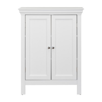 Bourbon with Two Contemporary Doors Bath Vanity Cabinet White - Elegant Home Fashions
