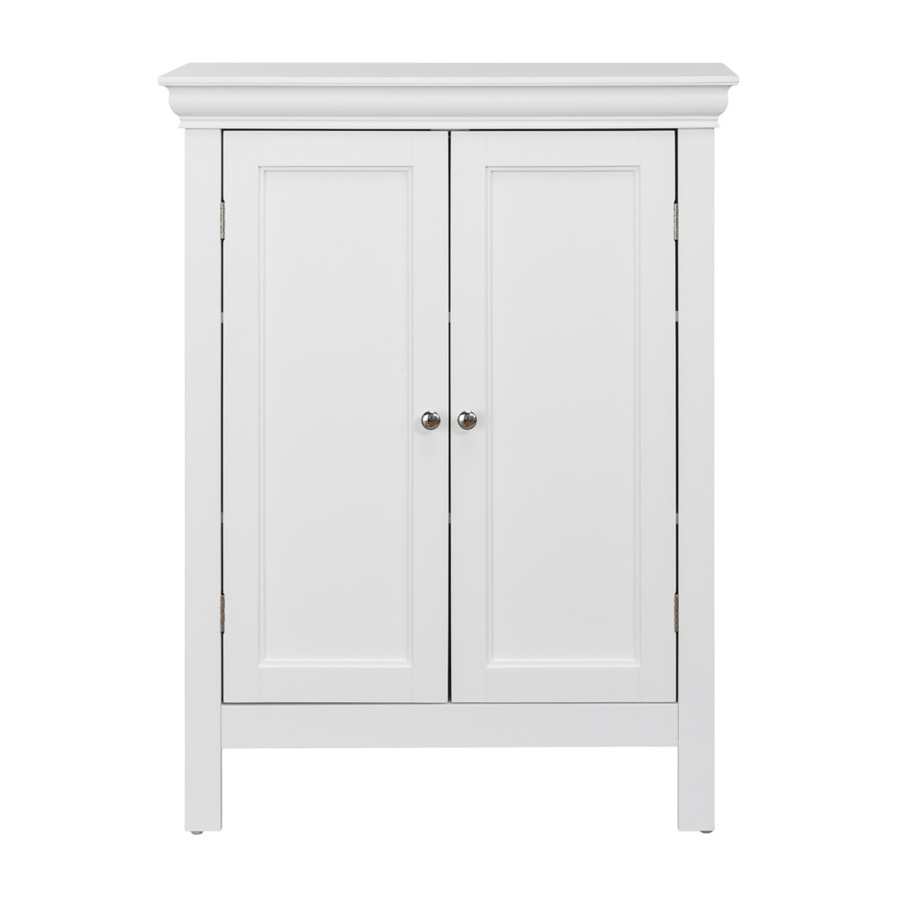 Image of Bourbon with Two Contemporary Doors Bath Vanity Cabinet White - Elegant Home Fashions