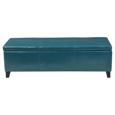 Lucinda Faux Leather Storage Ottoman Bench - Christopher Knight Home