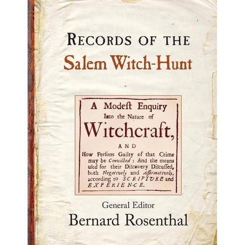 Records of the Salem Witch-Hunt - by  Bernard Rosenthal (Paperback) - image 1 of 1