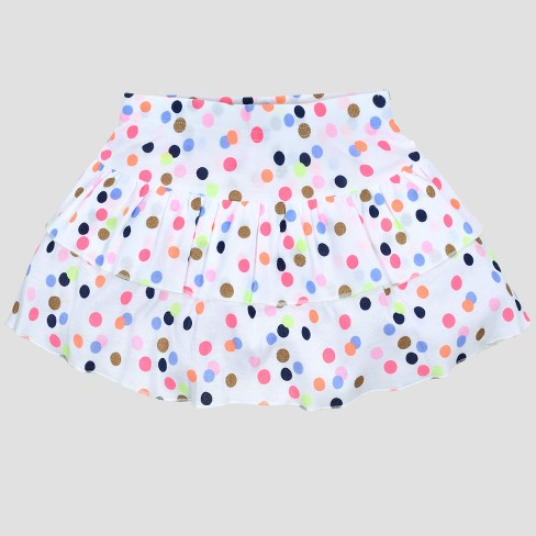 Gerber® Graduates® Toddler Girls' Polka Dot Skort - White - image 1 of 4