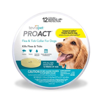 Tevra Pet ProAct Flea and Tick Collar for Dogs - 12 Months