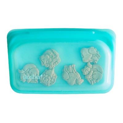 Stasher Reusable Food Storage Snack Bag -Aqua