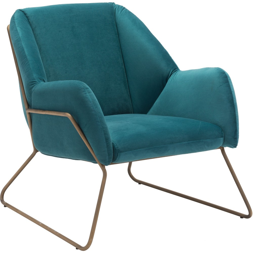 Modern Velvet Arm Chair Green - ZM Home
