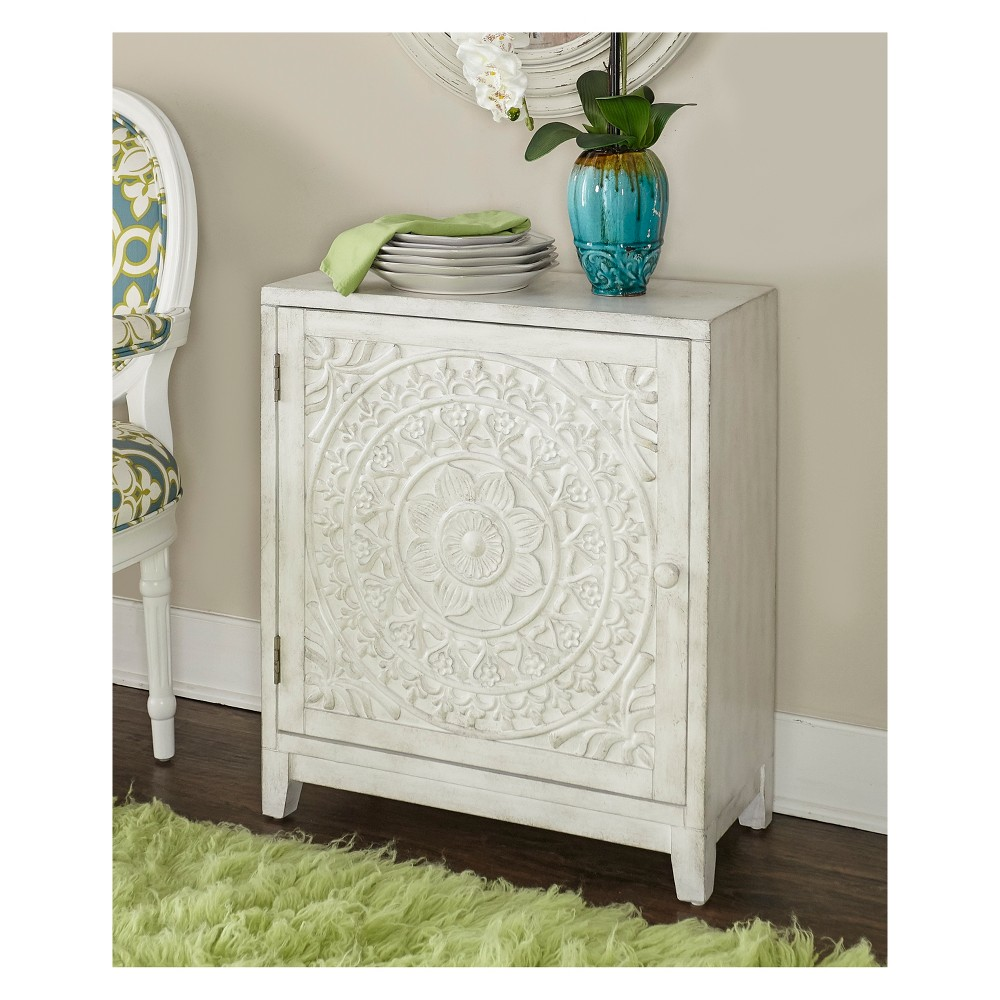 Aylee Cabinet White - Powell Company