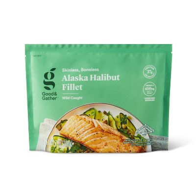 Alaska Halibut Skinless Boneless Fillet - Frozen - 7oz - Good & Gather™
