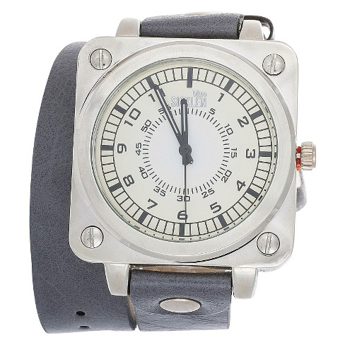 Van Sicklen Wrap Square Face Analog Wristwatch - Gray - image 1 of 1