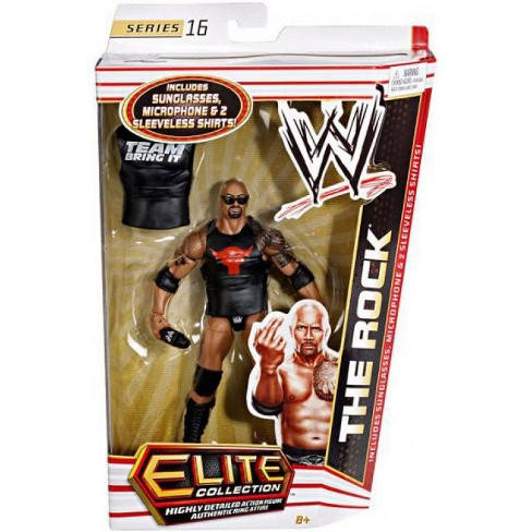 WWE Wrestling Elite Collection Series 16 The Rock Action Figure [Sunglasses, Microphone and 2 Sleeveless Shirts] - image 1 of 3