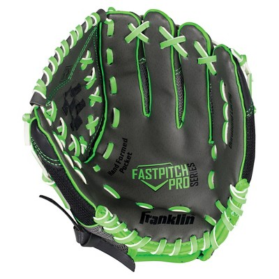 "Franklin Sports PVC Windmill Series Left Handed Thrower Softball Glove - Gray/Lime Mesh (11.0"")"
